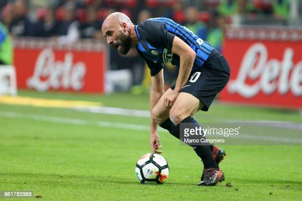 Borja Valero of FC Internazionale in action during the Serie A match between FC Internazionale and AC Milan Fc Internazionale wins 32 over Ac Milan