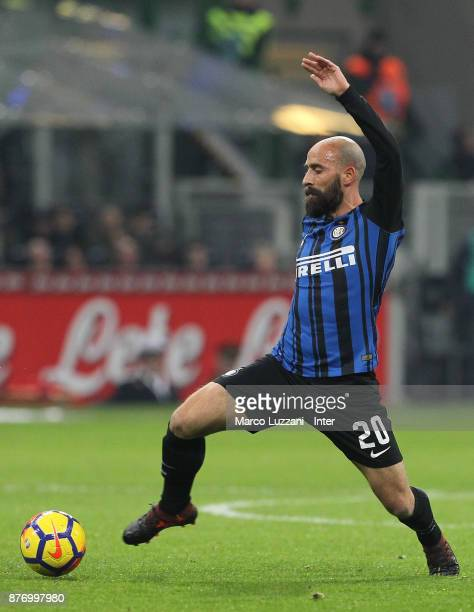 Borja Valero of FC Internazionale in action during the Serie A match between FC Internazionale and Atalanta BC at Stadio Giuseppe Meazza on November...