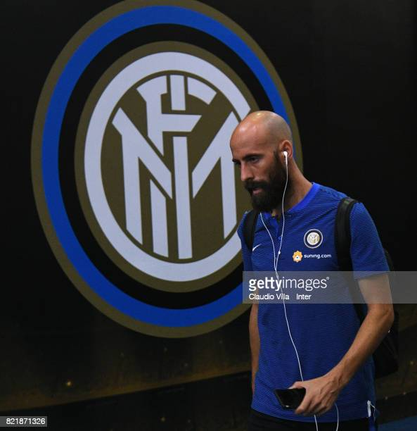 Borja Valero of FC Internazionale looks on prior to the 2017 International Champions Cup match between FC Internazionale and Olympique Lyonnais at...