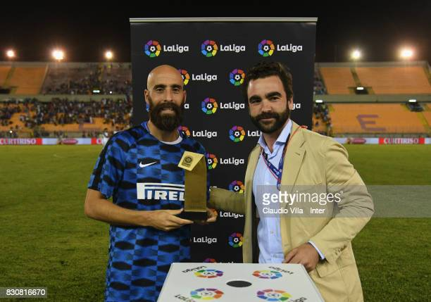 Borja Valero of FC Internazionale man of the match after the PreSeason Friendly match between FC Internazionale and Real Betis at Stadio Via del Mare...