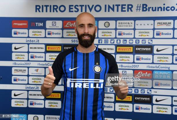 Borja Valero of FC Internazionale poses for a photo before the contract signing on July 11 2017 in Reischach near Bruneck Italy
