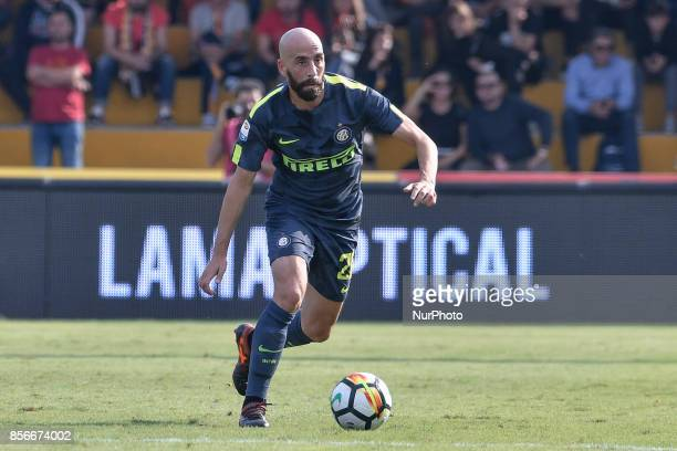 Borja Valero of Inter Milan during the Serie A match between Benevento and Inter Milan at Ciro Vigorito Stadium Roma Italy on 1 October 2017