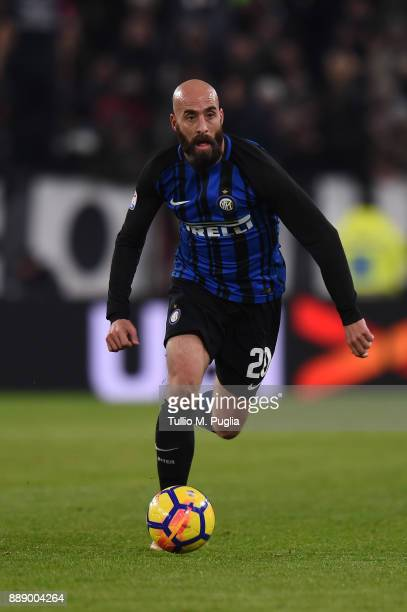 Borja Valero of Internazionale in action during the Serie A match between Juventus and FC Internazionale at Allianz Stadium on December 9 2017 in...