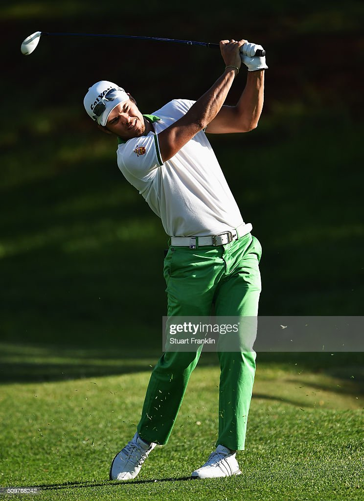 Borja Virto Astudillo of Spain plays a shot during the second round of the Tshwane Open at Pretoria Country Club on February 12, 2016 in Pretoria, South Africa.