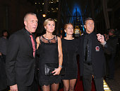 Borje Salming and his wife Margitta walk the red carpet prior to the induction ceremony at the Hockey Hall of Fame on November 17 2014 in Toronto...