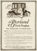 "A Borland Electric Brougham automobile is shown in a magazine advertisement from 1911 The ad states ""And it's the roomiest fourpassenger electric..."