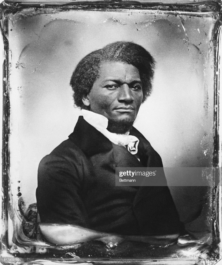 Born into slavery, American writer and abolitionist <a gi-track='captionPersonalityLinkClicked' href=/galleries/search?phrase=Frederick+Douglass&family=editorial&specificpeople=95956 ng-click='$event.stopPropagation()'>Frederick Douglass</a> (1817-1895) bought his freedom with income earned from lecturing abroad after the publication of his autobiography, Narrative of the Life of <a gi-track='captionPersonalityLinkClicked' href=/galleries/search?phrase=Frederick+Douglass&family=editorial&specificpeople=95956 ng-click='$event.stopPropagation()'>Frederick Douglass</a>.