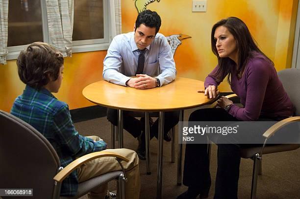 UNIT 'Born Psychopath' Episode 1419 Pictured Ethan Cutkosky as Henry Mesner Danny Pino as Detective Nick Amaro Mariska Hargitay as Detective Olivia...