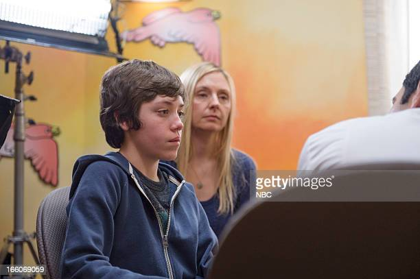 UNIT 'Born Psychopath' Episode 1419 Pictured Ethan Cutkosky as Henry Mesner Hope Davis as Viola Mesner