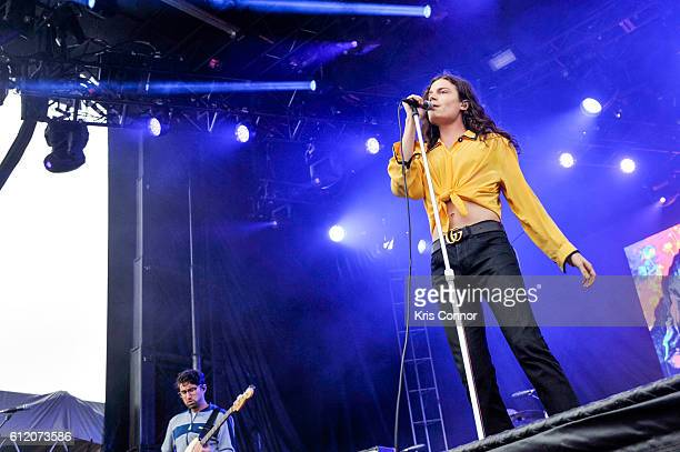 Borns performs during The Meadows Music Arts Festival 2016 at Citi Field on October 2 2016 in New York City