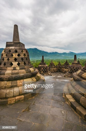 Borobudur Buddhist Temple in Magelang, Java, Indonesia : Stock Photo