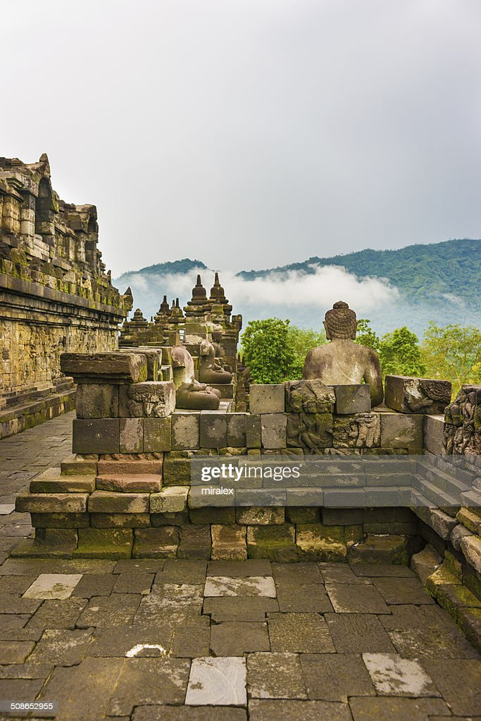 Borobudur Buddhist Temple in Magelang, Java, Indonesia : Stock Photo