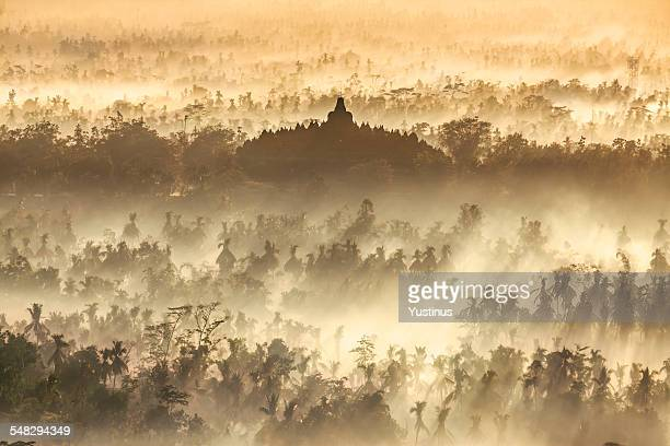 Borobudur Temple at sunrise, Central Java, Indonesia
