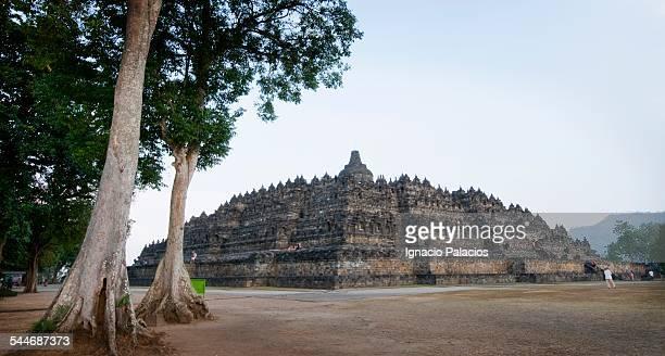 Borobudur temple, perforated stupas