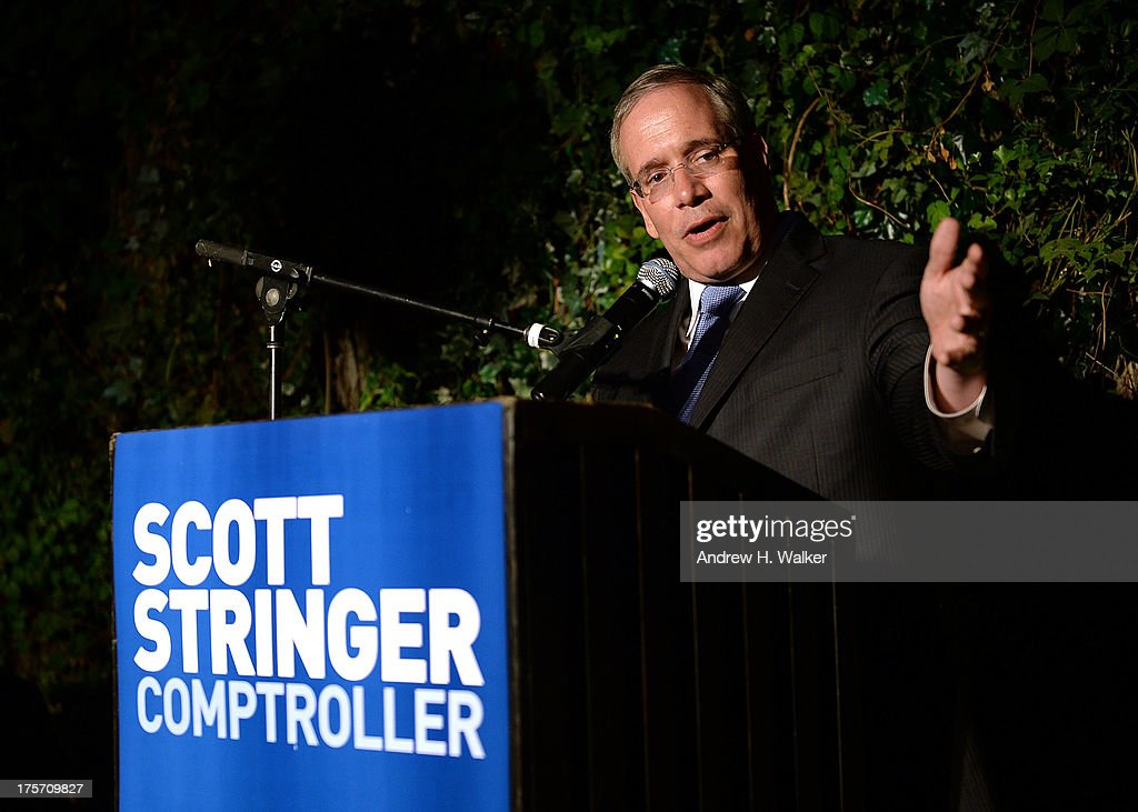 Borough President of Manhattan and candidate for NYC Comptroller Scott Stringer speaks at the Young New York Fundraiser in support of Scott Stringer for NYC Comptroller at Maritime Hotel on August 6, 2013 in New York City.