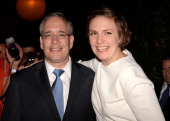 Borough President of Manhattan and candidate for NYC Comptroller Scott Stringer and actress Lena Dunham attend the Young New York Fundraiser in...