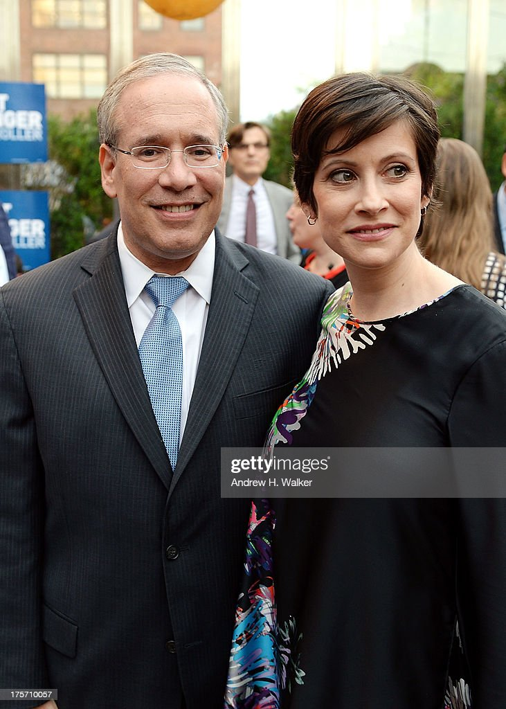 Borough President of Manhattan and candidate for NYC Comptroller Scott Stringer and his wife Elyse Buxbaum attend the Young New York Fundraiser in support of Scott Stringer for NYC Comptroller at Maritime Hotel on August 6, 2013 in New York City.