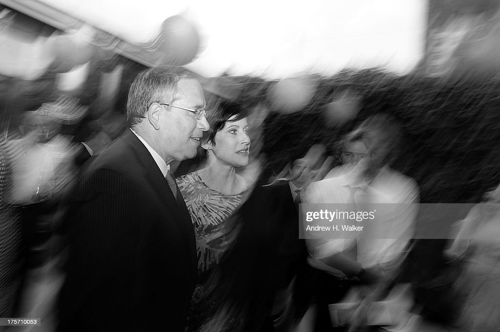 Borough President of Manhattan and candidate forand his wife Elyse Buxbaum attend the Young New York Fundraiser in support of Scott Stringer for NYC Comptroller at Maritime Hotel on August 6, 2013 in New York City.