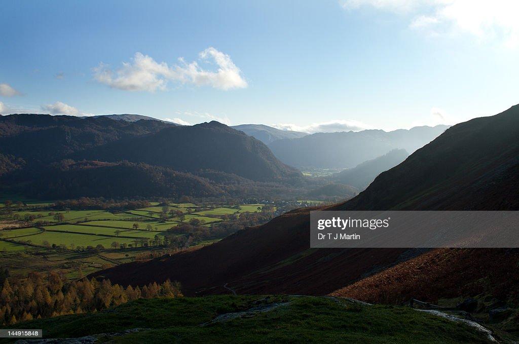 Borrowdale Valley, Lake District, England : Stock Photo