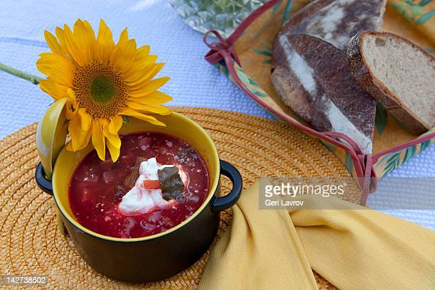 Borscht soup (beetroot soup)