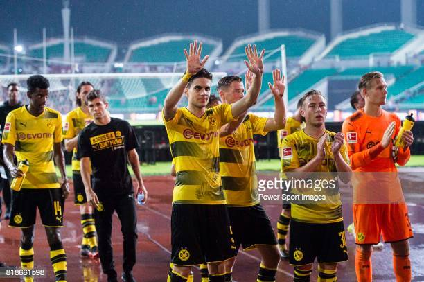 Borussia Dortmund Borussia Dortmund Defender Marc Bartra and his teammates interacting with supporters during the International Champions Cup 2017...