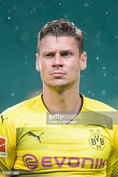 Borussia Dortmund Defender Lukasz Piszczek getting into the field during the International Champions Cup 2017 match between AC Milan vs Borussia...
