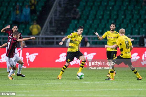 Borussia Dortmund Defender Marc Bartra in action during the International Champions Cup 2017 match between AC Milan vs Borussia Dortmund at...