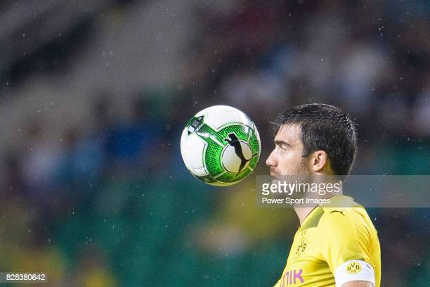 Borussia Dortmund Defender Sokratis Papastathopoulos in action during the International Champions Cup 2017 match between AC Milan vs Borussia...