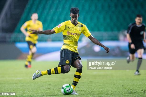 Borussia Dortmund Forward Alexander Isak in action during the International Champions Cup 2017 match between AC Milan vs Borussia Dortmund at...