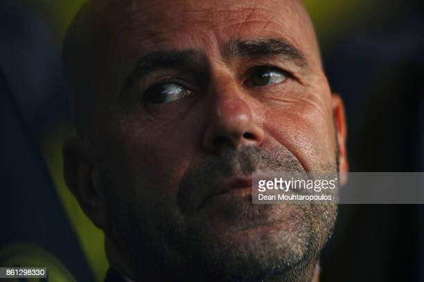 Borussia Dortmund Head Coach / Manager Peter Bosz looks on during the Bundesliga match between Borussia Dortmund and RB Leipzig at Signal Iduna Park...