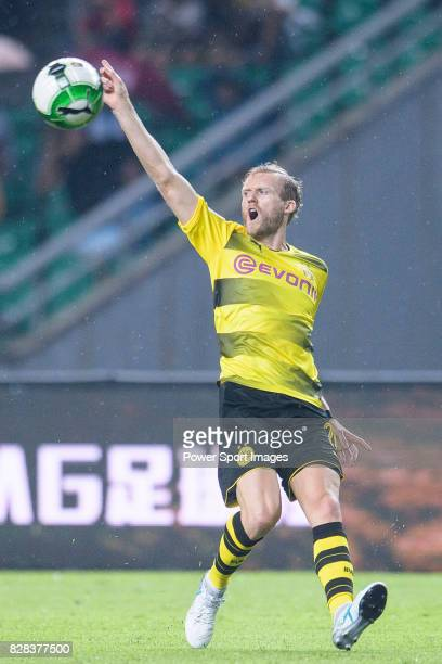 Borussia Dortmund Midfielder Andre Schurrle gestures during the International Champions Cup 2017 match between AC Milan vs Borussia Dortmund at...