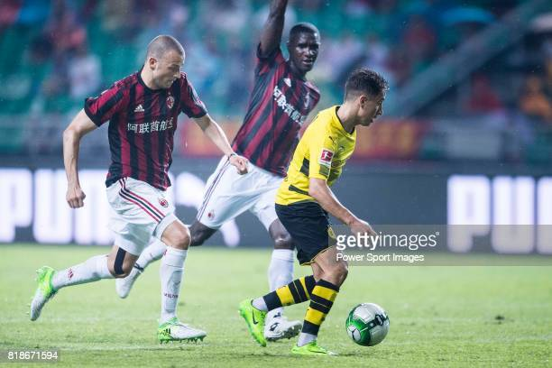 Borussia Dortmund Midfielder Emre Mor fights for the ball with AC Milan Defender Gabriel Paletta during the International Champions Cup 2017 match...