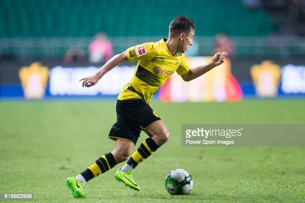 Borussia Dortmund Midfielder Emre Mor fights for the ball with during the International Champions Cup 2017 match between AC Milan vs Borussia...
