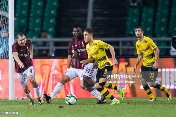 Borussia Dortmund Midfielder Emre Mor in action against AC Milan Midfielder Franck Kessie during the International Champions Cup 2017 match between...