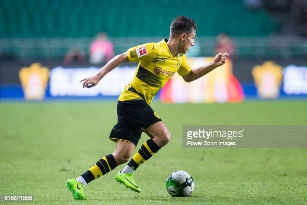 Borussia Dortmund Midfielder Emre Mor in action during the International Champions Cup 2017 match between AC Milan vs Borussia Dortmund at University...