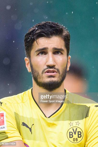 Borussia Dortmund Midfielder Nuri Sahin getting into the field during the International Champions Cup 2017 match between AC Milan vs Borussia...