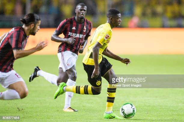 Borussia Dortmund Midfielder Ousmane Dembele in action during the International Champions Cup 2017 match between AC Milan vs Borussia Dortmund at...