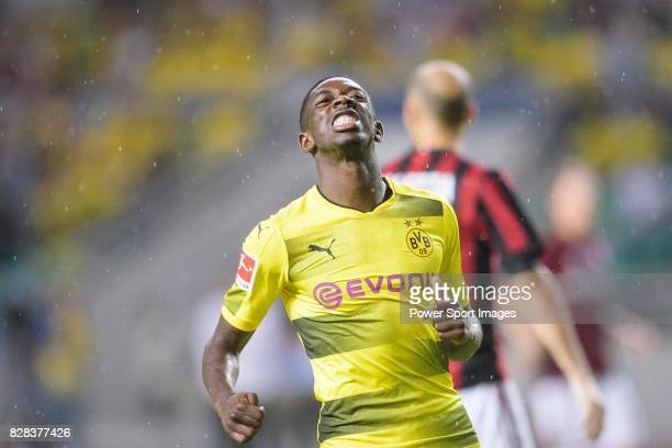 Borussia Dortmund Midfielder Ousmane Dembele reacts during the International Champions Cup 2017 match between AC Milan vs Borussia Dortmund at...