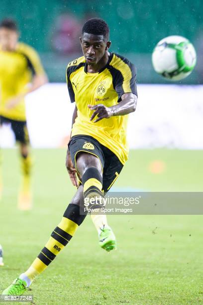 Borussia Dortmund Midfielder Ousmane Dembele Warming up during the International Champions Cup 2017 match between AC Milan vs Borussia Dortmund at...