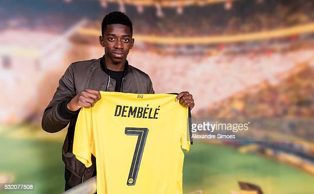 Borussia Dortmund unveils new signing Ousmane Dembele on May 17 2016 in Dortmund Germany