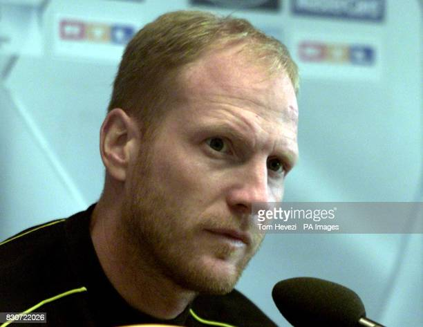BV Borussia Dortmund's Head Coach Matthias Sammer answers questions at the pre match conference at the Westfalenstadion Dortmund THIS PICTURE CAN...