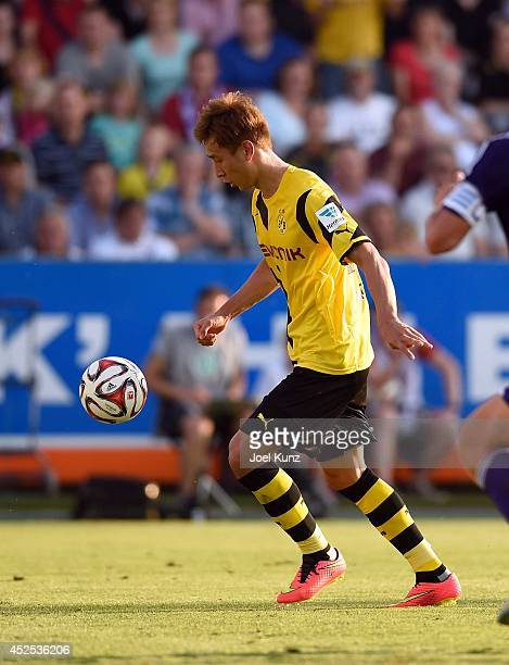 Borussia Dortmund's new scorer DongWon Ji in his first match on July 22 2014 in Osnabrueck Germany