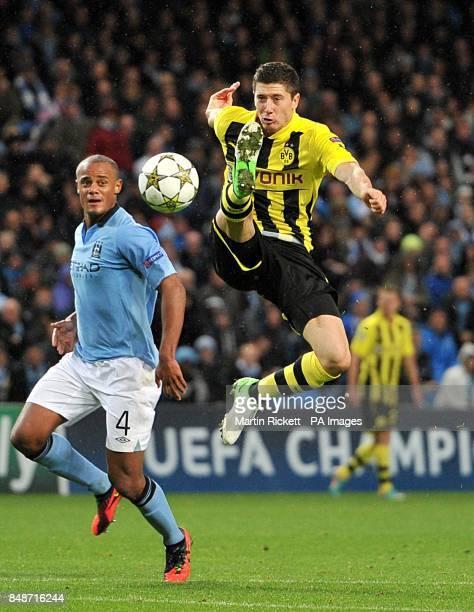 Borussia Dortmund's Robert Lewandowski in action