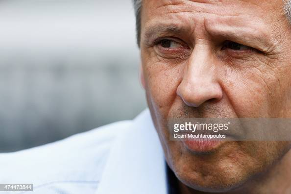 Borussia Moenchengladbach Manager / Head Coach Lucien Favre looks on during the Bundesliga match between Borussia Moenchengladbach and FC Augsburg...