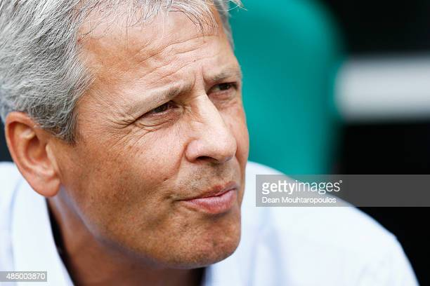 Borussia Monchengladbach Head Coach / Manager Lucien Favre looks on during the Bundesliga match between Borussia Moenchengladbach and 1 FSV Mainz 05...