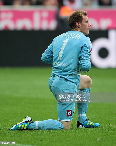 BorussiaTorwart MarcAndre TerStegen im Einsatz beim BundesligaSpiel zwischen dem FC Bayern Muenchen und Borussia Moenchengladbach am in der Muenchner...