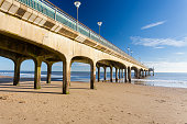 Beautiful sunny day at Boscombe Pier near Bourneouth Dorset England UK Europe