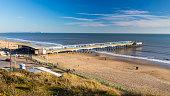 Overlooking Boscombe Pier near Bourneouth Dorset England UK Europe