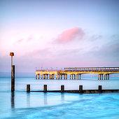 Boscombe Pier at twilight, Bournemouth, Dorset, England