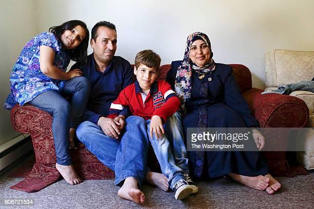 Boshra Ali from left Fouad Haj Ali nephew Abdulrahman and Rabia pose for a portait at their home on Wednesday September 14 2016 in Aurora IL